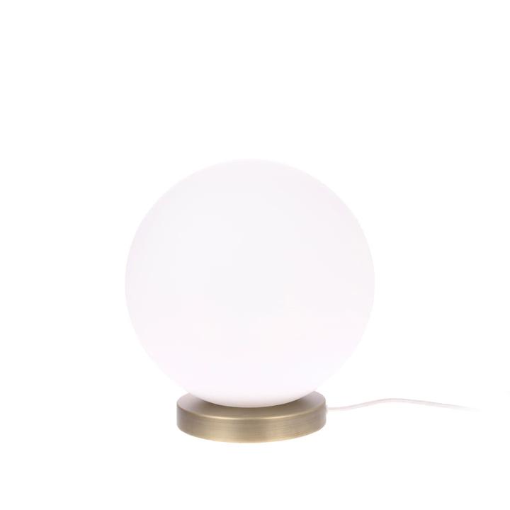Die Ball Tischleuchte, M, Ø 20 cm, weiß / messing von HKliving