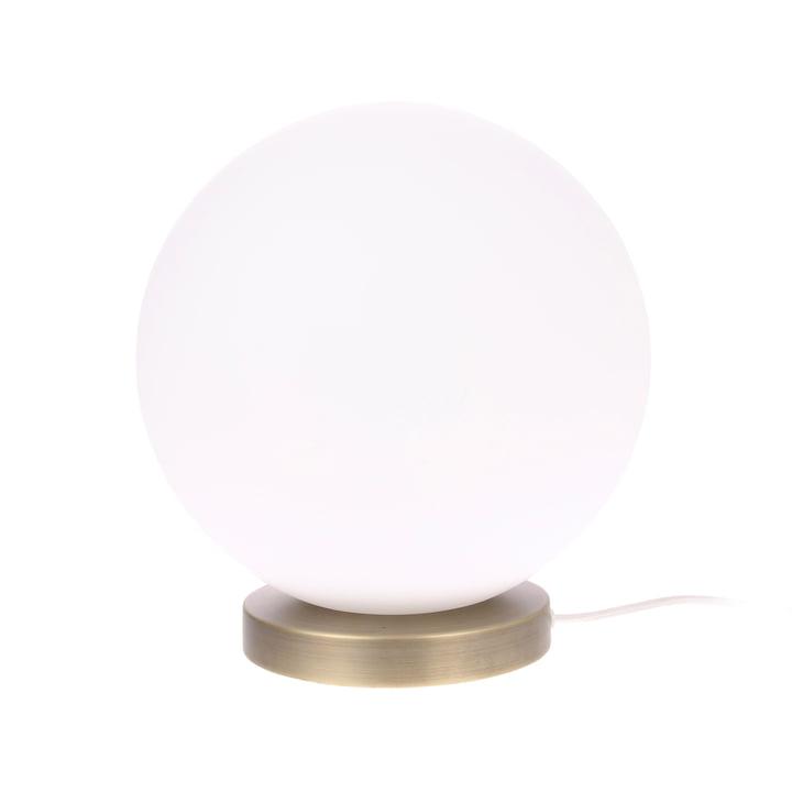 Die Ball Tischleuchte, L, Ø 30 cm, weiß / messing von HKliving