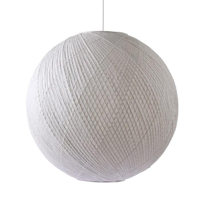 Die Bambus / Papier Pendelleuchte Ball, Ø 80 cm, weiß von HKliving
