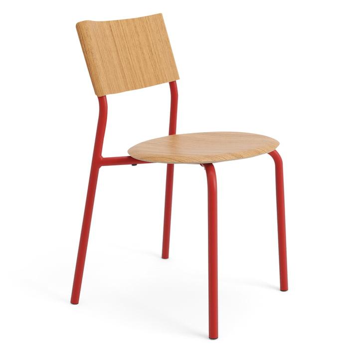 Der SSD Stuhl, Eiche / tomatenrot von TipToe