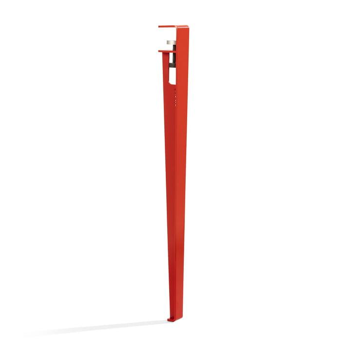 Das Tisch- und Schreibtischbein H 75 cm, tomatenrot von TipToe