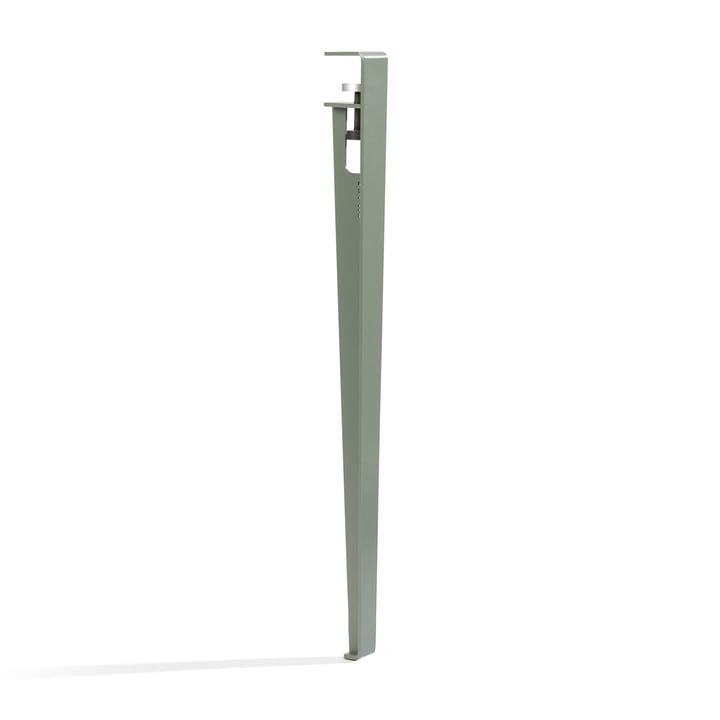 Das Tisch- und Schreibtischbein H 75 cm, eukalyptus grau von TipToe