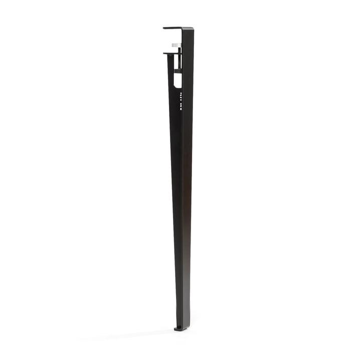 Das Tisch- und Schreibtischbein H 75 cm, graphitschwarz von TipToe