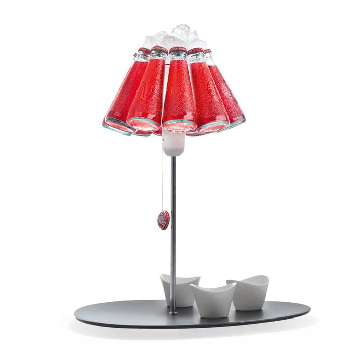 Die Campari Bar Tischleuchte, rot (EU) von Ingo Maurer