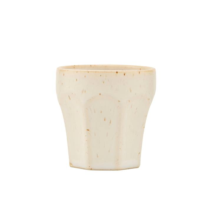 Becher Berica, H 63 mm, beige von House Doctor