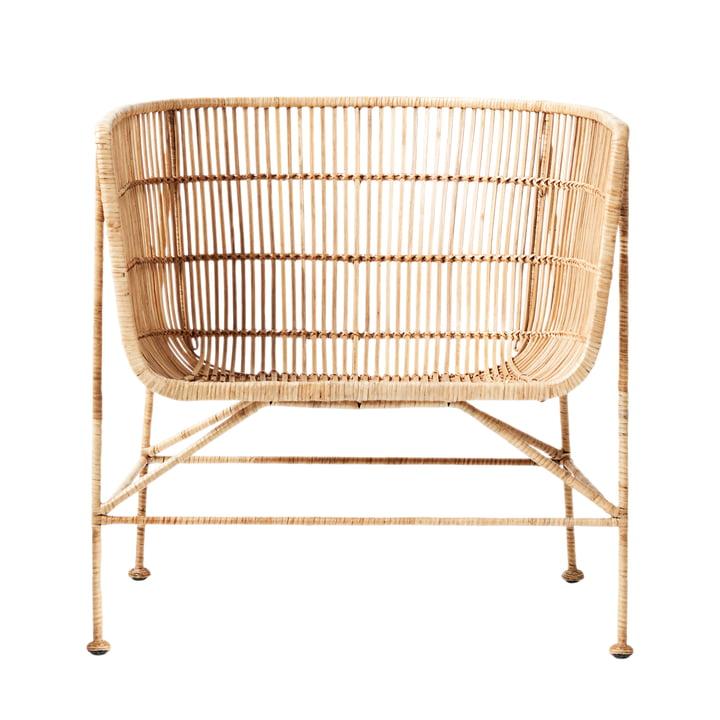 Der Cuun Rattan Lounge Chair, natur von House Doctor