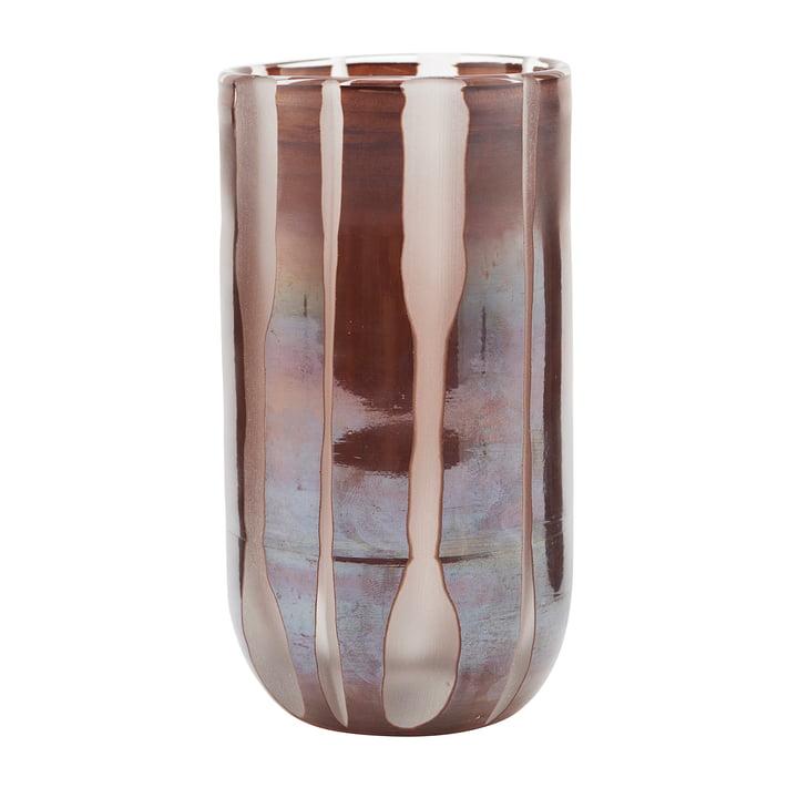 Vase Bai, Ø 8 x H 15,5 cm, braun von House Doctor