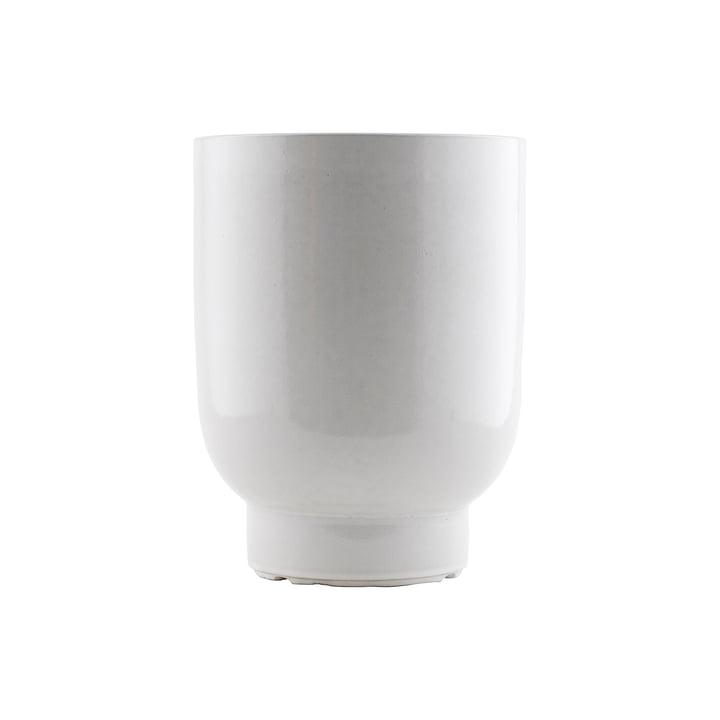 Der Pot Blumentopf, Ø 20 x H 26 cm, weiß von House Doctor