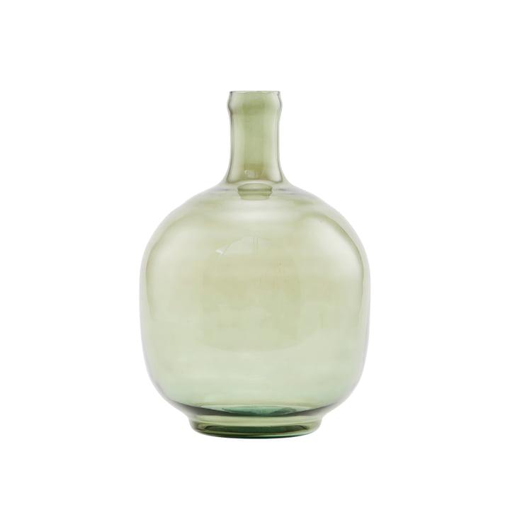 Die Tinka Vase, Ø 24 x H 31,5 cm, dunkelgrün von House Doctor