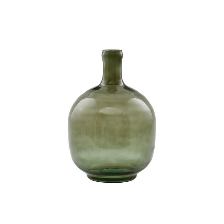 Die Tinka Vase, Ø 16,5 x H 23,5 cm, dunkelgrün von House Doctor