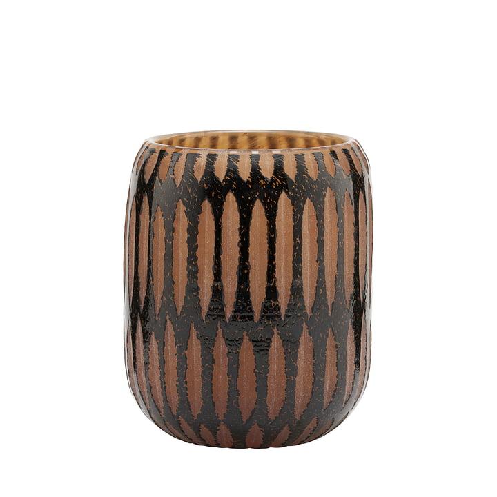 Die Vase, Pimpri, Ø 10 x H 12 cm, schwarz / braun von House Doctor