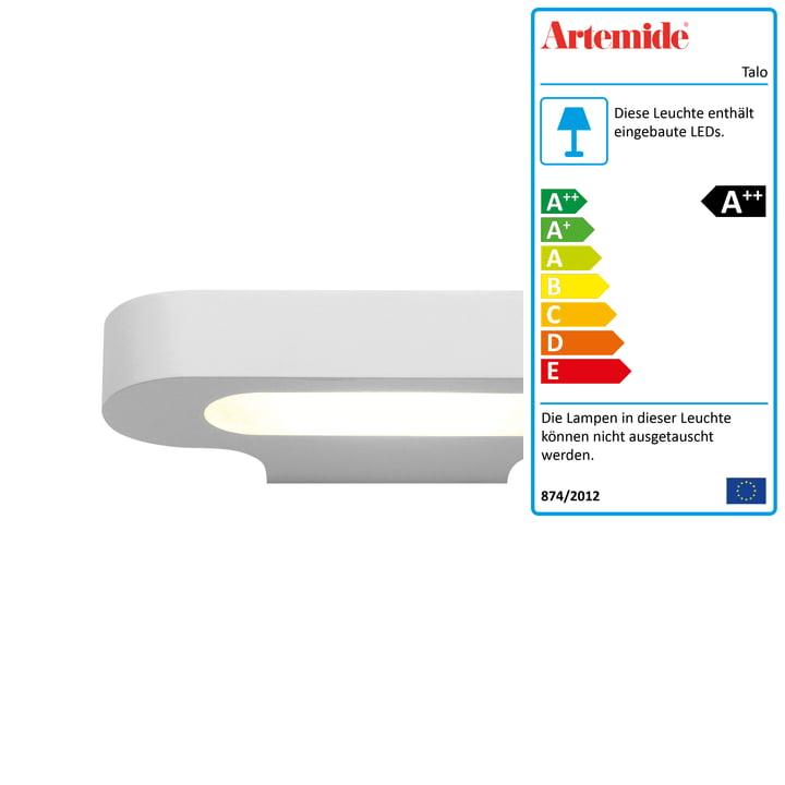 Talo LED-Wandleuchte, 2700K / weiß von Artemide
