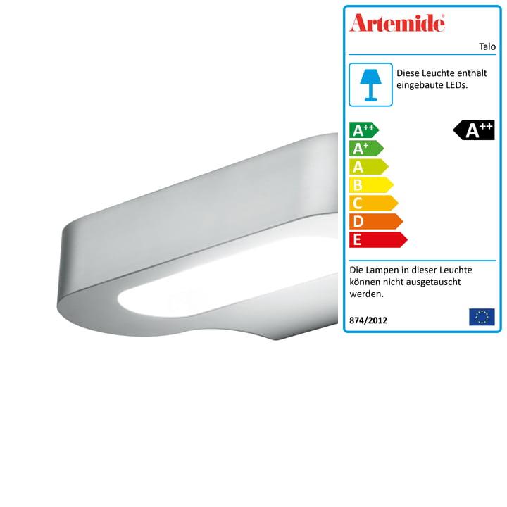 Talo LED-Wandleuchte, 2700K / silber von Artemide