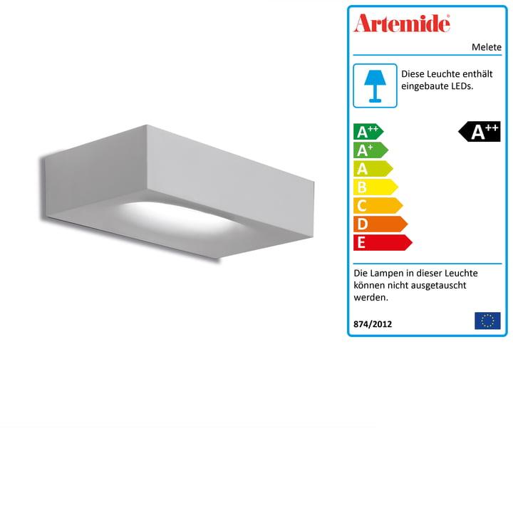 Melete LED-Wandleuchte, 2700K / weiß von Artemide