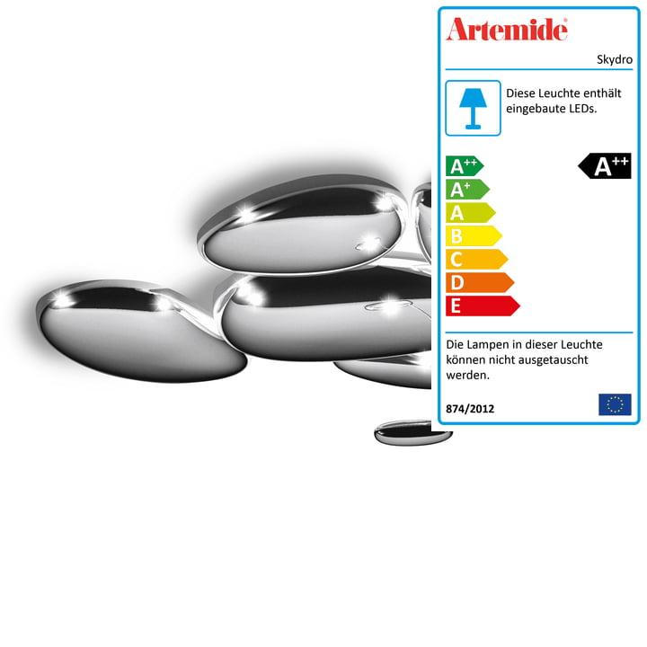 Skydro LED-Deckenleuchte, glänzendes Chrom von Artemide