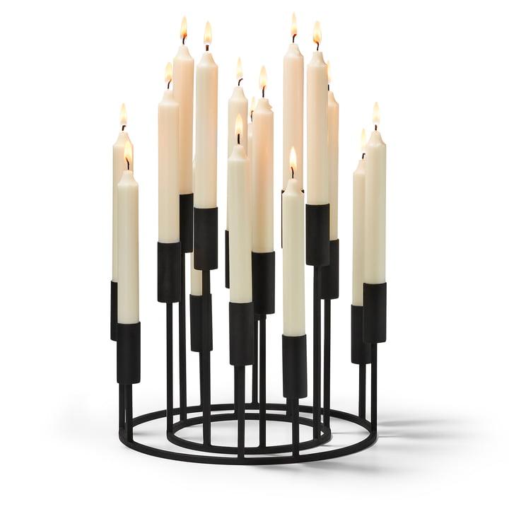 Illuminati Kerzenhalterset (2-teilig) von Philippi in schwarz