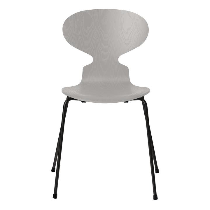 Ameise Stuhl von Fritz Hansen in Esche nine grey gefärbt / Gestell schwarz