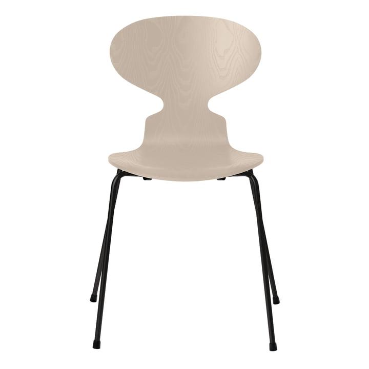 Ameise Stuhl von Fritz Hansen in Esche light beige gefärbt / Gestell schwarz