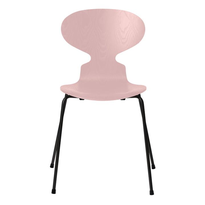 Ameise Stuhl von Fritz Hansen in Esche pale rose gefärbt / Gestell schwarz