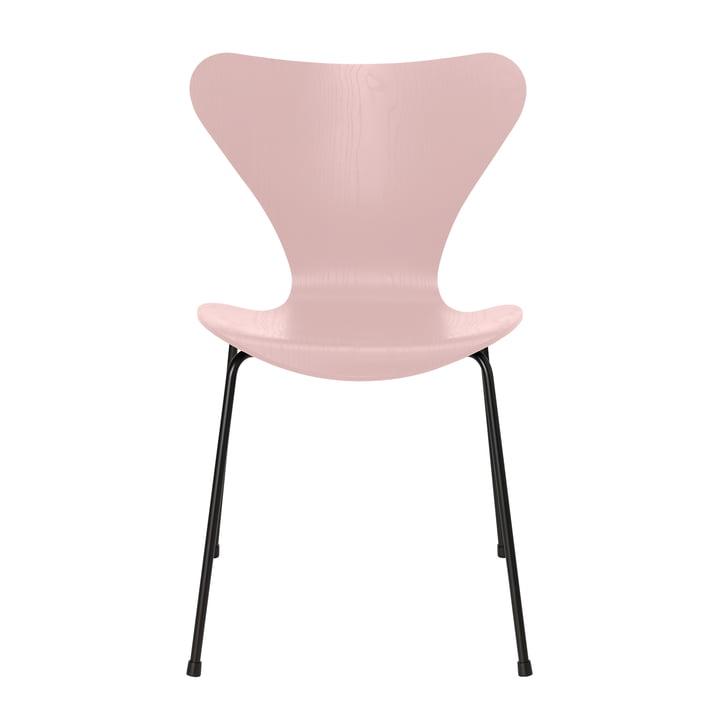 Serie 7 Stuhl von Fritz Hansen in Esche pale rose gefärbt / schwarz