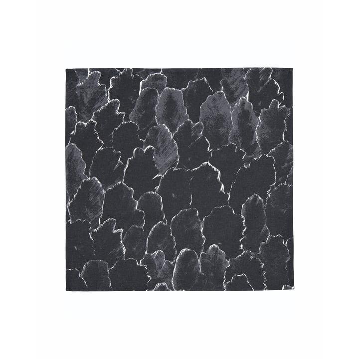 Die Käpykangas Serviette 45 x 45 cm, dunkelgrau / weiß von Marimekko