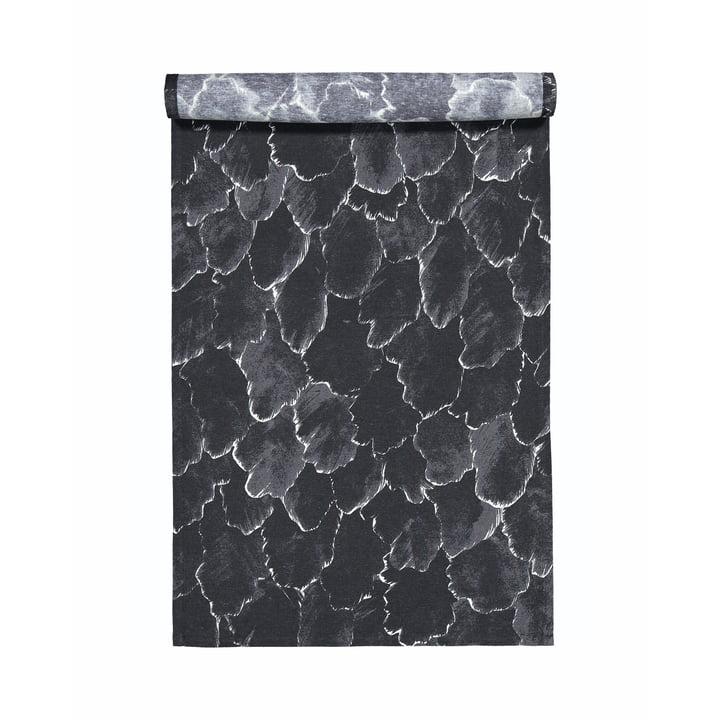Der Käpykangas Tischläufer 45 x 150 cm, dunkelgrau / weiß von Marimekko