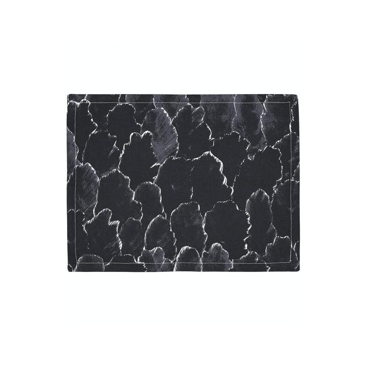 Das Käpykangas Tischset, dunkelgrau / weiß von Marimekko