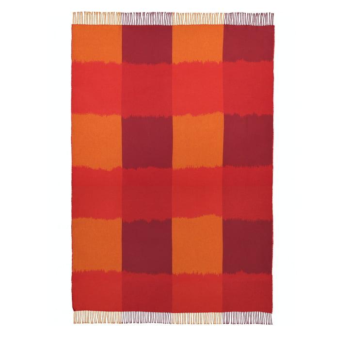 Die Ostjakki Decke 120 x 185 cm, rot / orange / braun von Marimekko
