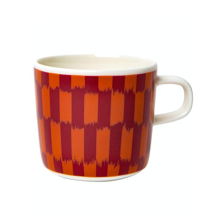Der Piekana Becher mit Henkel 200 ml, dunkelrot / orange von Marimekko