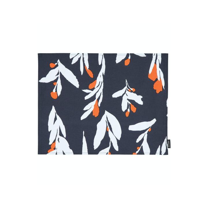 Das Pieni Hyhmä Tischset, dunkelblau / orange / blau von Marimekko