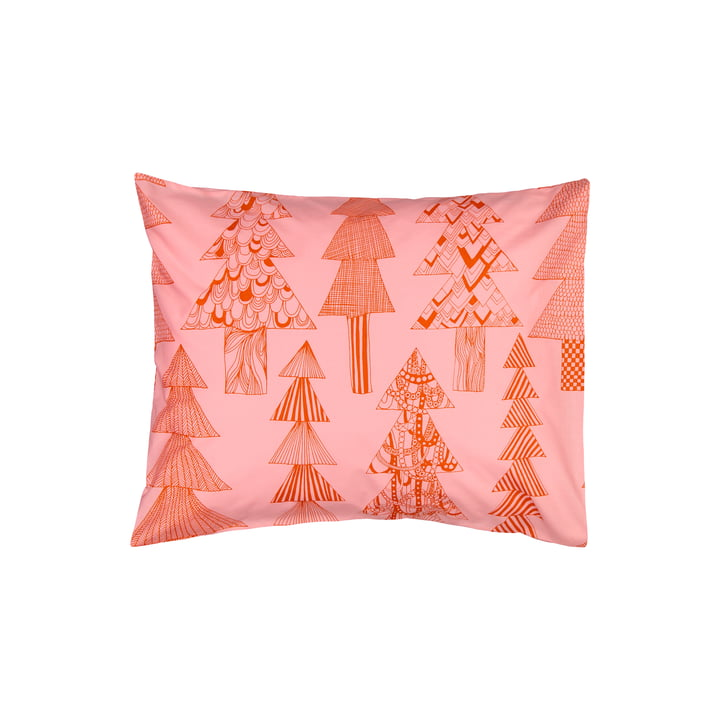 Der Kuusikossa Kopfkissenbezug 50 x 60 cm, rosa / rot von Marimekko
