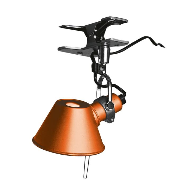 Tolomeo Micro Pinza Klemmleuchte von Artemide in orange