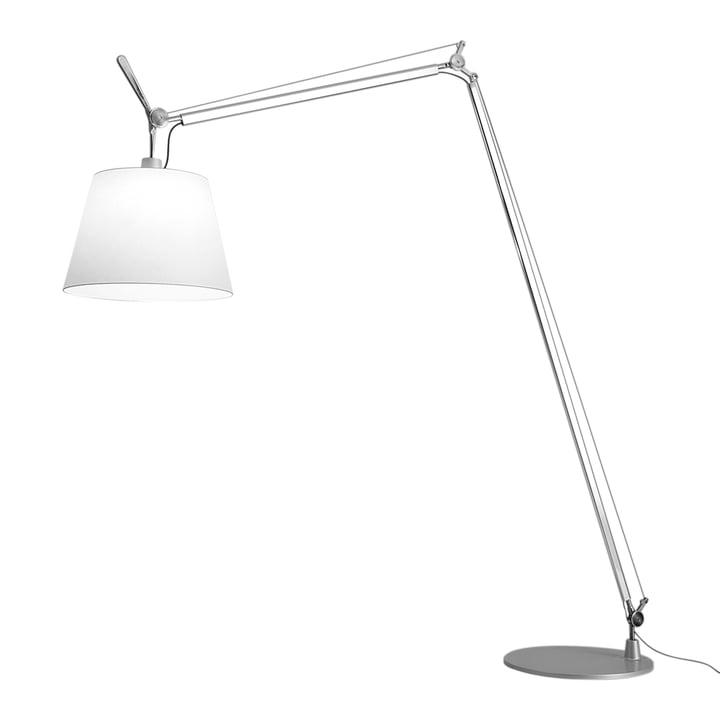 Tolomeo Maxi LED Stehleuchte von Artemide in Aluminium