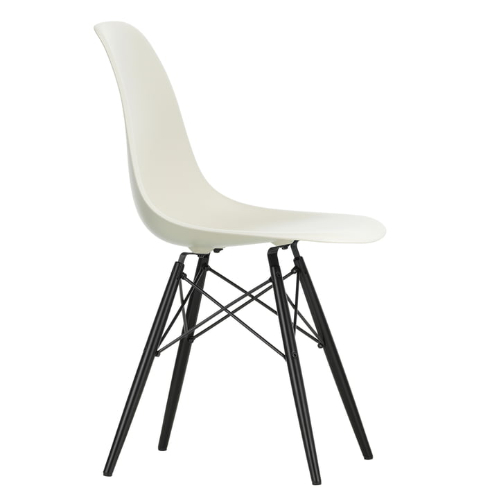Vitra - Eames Plastic Side Chair DSW, Ahorn schwarz / kieselstein