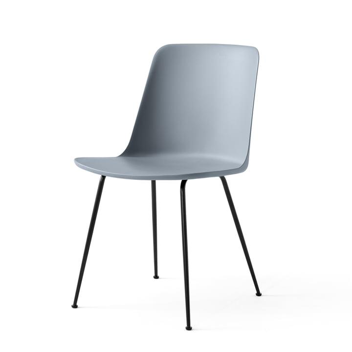 Der Rely Chair HW6, hellblau / schwarz von &tradition