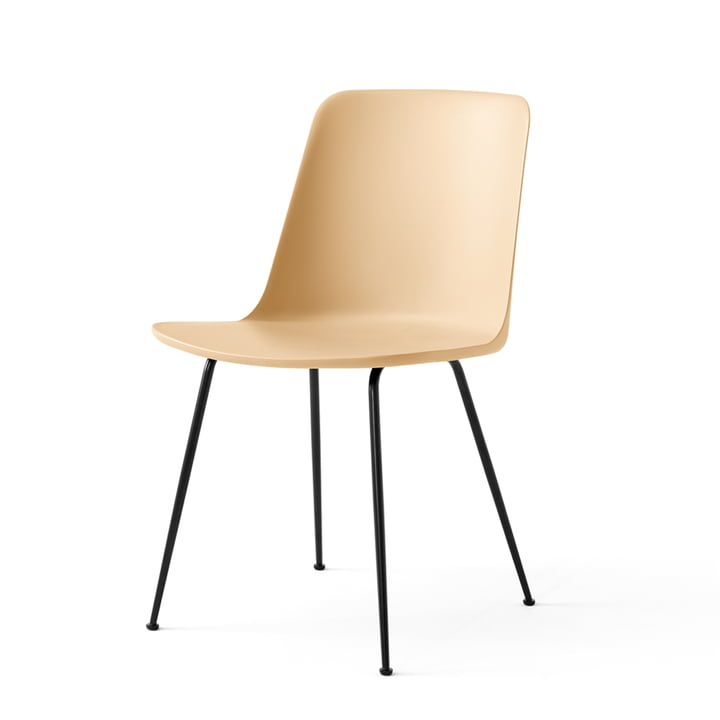 Der Rely Chair HW6, beige sand / schwarz von &tradition