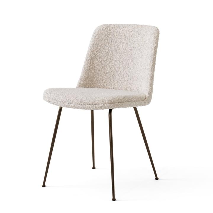 Der Rely Chair HW9, Stahl bronziert / Serafino 002 von &tradition