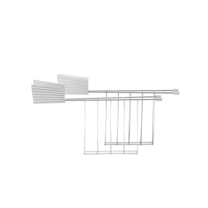 Alessi - Toasterzange für Plissé Toaster, weiß (2er-Set)