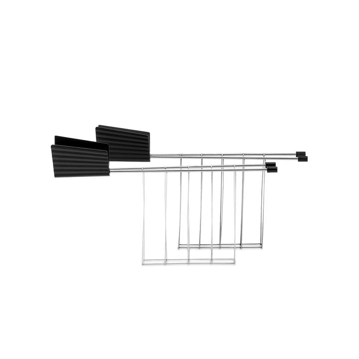 Die Toasterzange für Plissé Toaster, schwarz (2er-Set) von Alessi