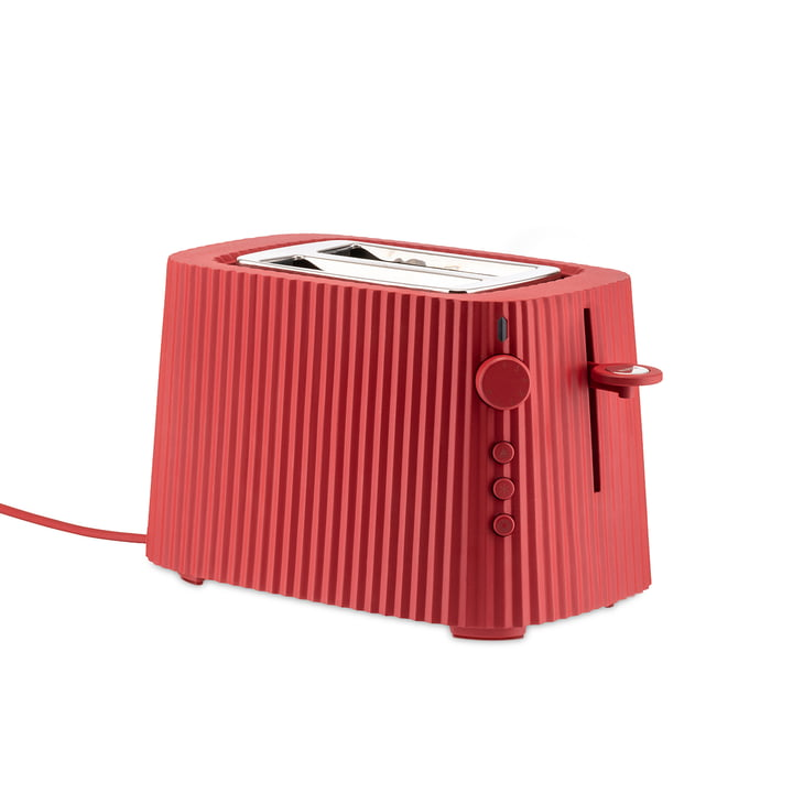 Der Plissé Toaster, rot von Alessi