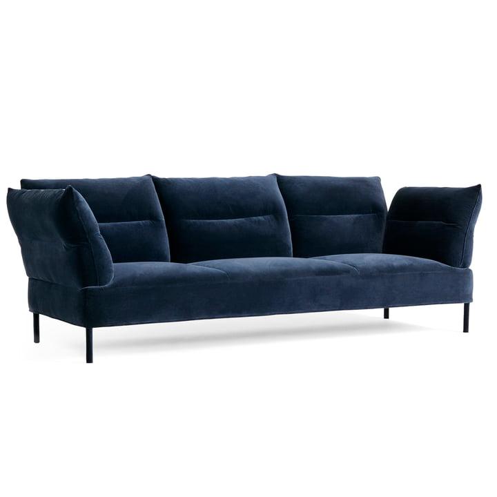 Der Pandarine Sofa, 3-Sitzer, verstellbare Armlehnen, Eiche, Lola navy von Hay