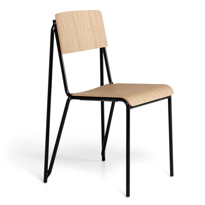 Der Petit Standard Stuhl, schwarz / Eiche matt lackiert von Hay