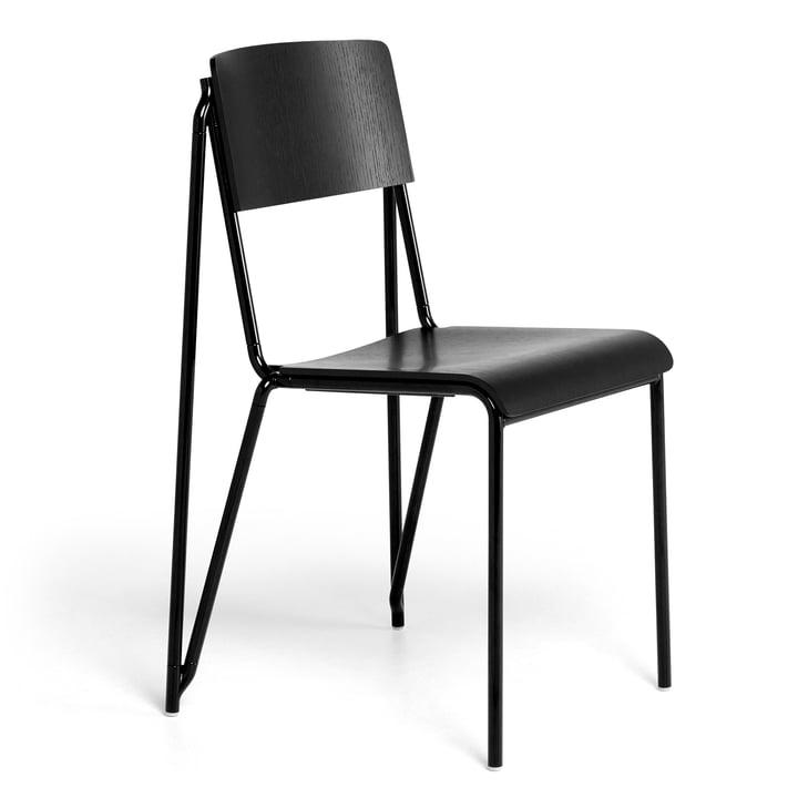 Der Petit Standard Stuhl, schwarz / schwarz von Hay