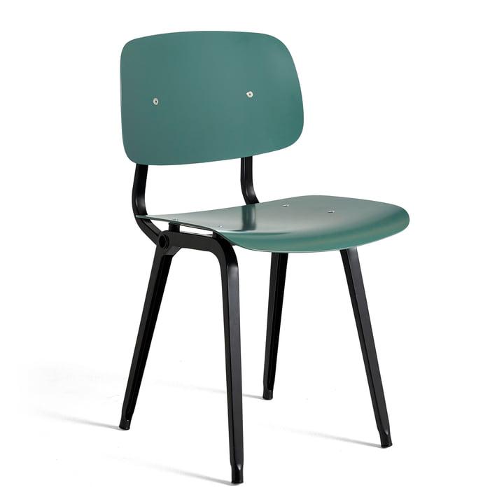 Der Revolt Chair, schwarz / petrolgrün von Hay