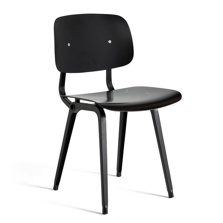 Der Revolt Chair, schwarz / schwarz von Hay