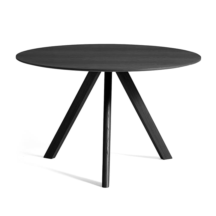 Der Copenhague CPH20 Tisch Ø 120 cm, schwarz von Hay