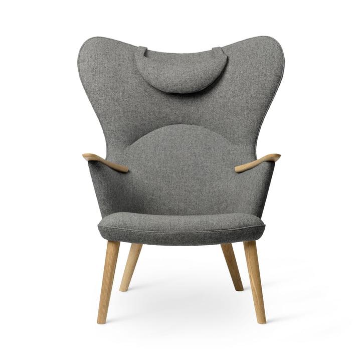 Der CH78 Mama Bear Lounge Chair, Eiche geölt / Fiord 0151 von Carl Hansen