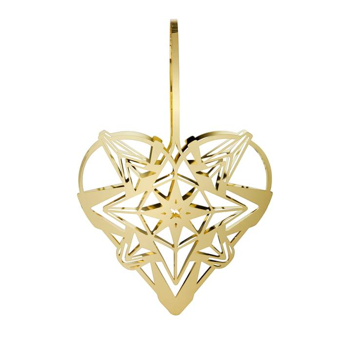 Das Karen Blixens Weihnachtsherz, H 25,6 cm, gold von Rosendahl