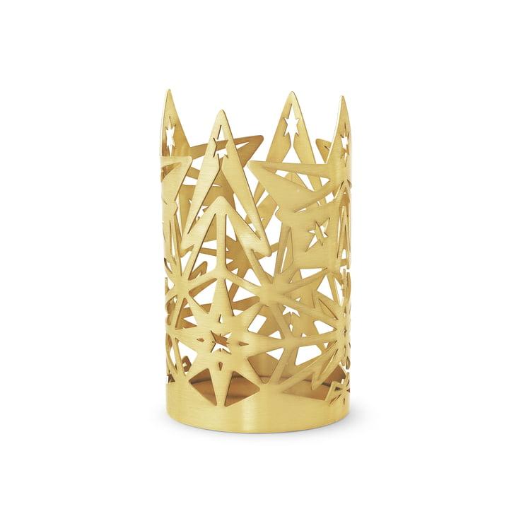 Der Karen Blixen Blockkerzenhalter, H 13,5 x Ø 8 cm, gold von Rosendahl