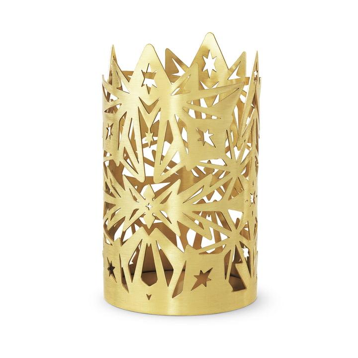 Die Karen Blixen Blockkerzenhalter, H 16 x Ø 9,5 cm, gold von Rosendahl